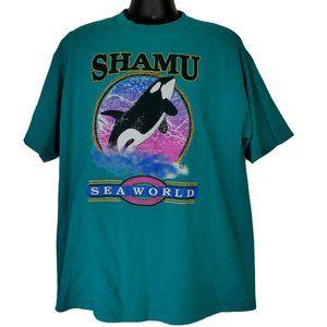 Shamu Sea World Men's Vintage Shirt Killer Whale